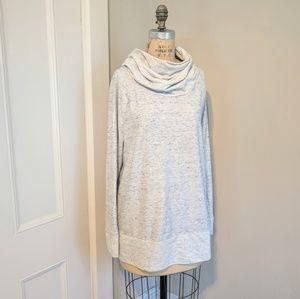 Lou & Grey Cowl Long Sweatshirt Heather Gray